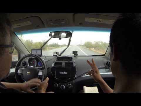 Mexican Army Ex-Military Veteran guides us through Border Patrol Immigration Checkpoint, GP040030
