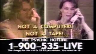 1990 commercials  The Psychic Hotline