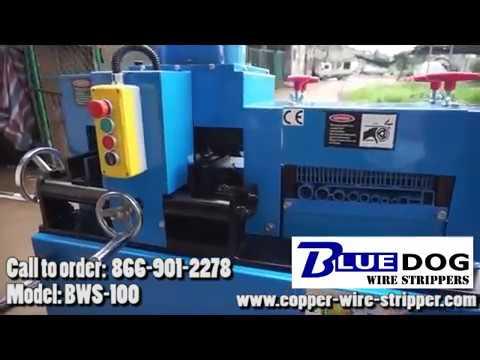 Bluedog™ Wire Stripping Machine - BWS-100V2  heavy duty industrial copper wire stripper.