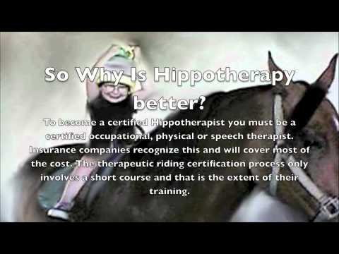 Therapeutic Riding Vs. Hippotherapy - YouTube