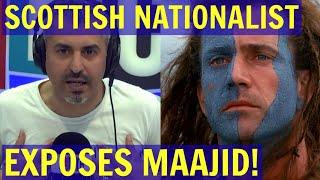 Scottish ETHNO-NATIONALIST Exposes MAAJID as an ANTI-WHITE Globalist! - LBC