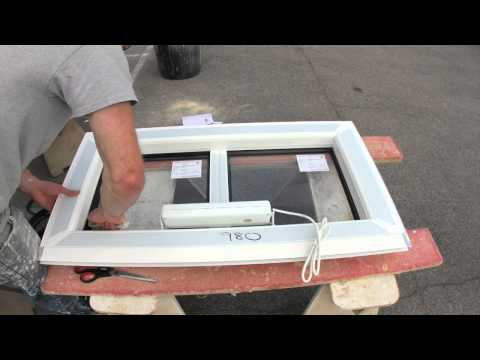 How to fit the glass into an aluminium roof vent