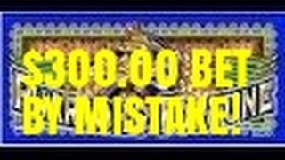 OOPS! $300.00 BET! PHARAOH'S FORTUNE SLOT MACHINE