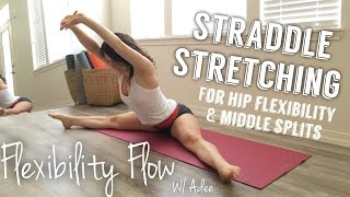Seated Straddle Flow for hip and middle split flexibility