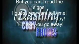 Cody Rhodes WWE theme song with lyrics