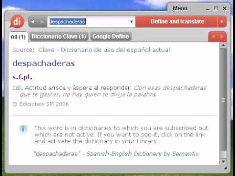 Definición de despachaderas