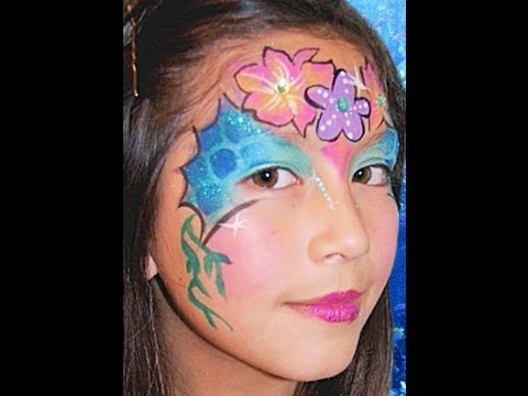 Mermaid Face Paint Design Video Tutorial YouTube