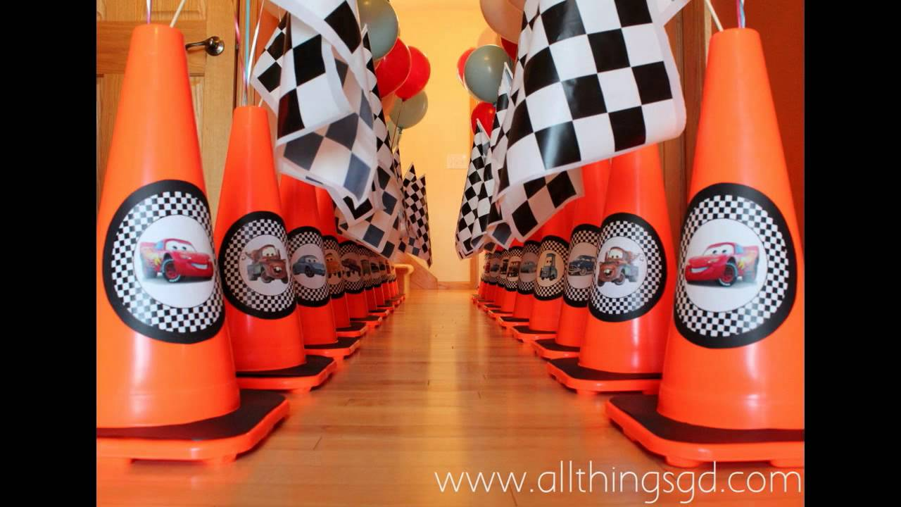 Awesome cars birthday party decorations ideas youtube for R b party decorations