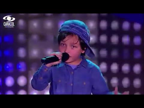 Matthew canta 'Boyfriend' de Justin Bieber   La Voz Kids Colombia - Audiciones a ciegas