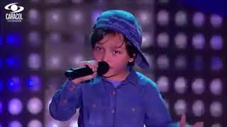 Matthew canta 'Boyfriend' de Justin Bieber | La Voz Kids Colombia - Audiciones a ciegas