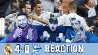 Ronaldo scores brace! BBC on Fire !! | Real Madrid 4-0 Deportivo Alaves  | Reaction