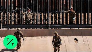 U.S. Border Patrol Spots Migrants Climbing Fence in El Paso Texas