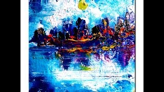 Tales of the Night abstract painting by Peter Dranitsin