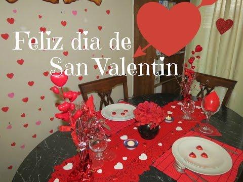 Como arreglar tu mesa en el día de San Valentin colaborativo