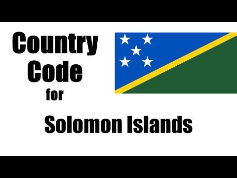Solomon Islands Dialing Code - Somali Country Code - Telephone Area Codes In Solomon Islands