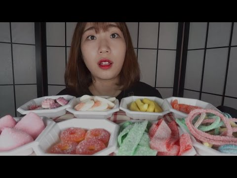 [미니유 한국어 ASMR] 젤리파는 가게│Jelly Shop Role Play│Jelly Eating Sounds│Korean ASMR