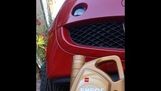 How to change engine oil and oil filter on Mitsubishi Colt czt part 1