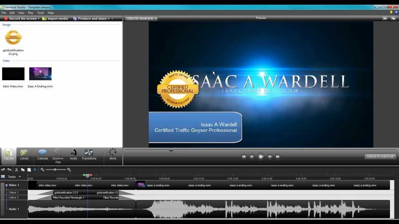 create a video template