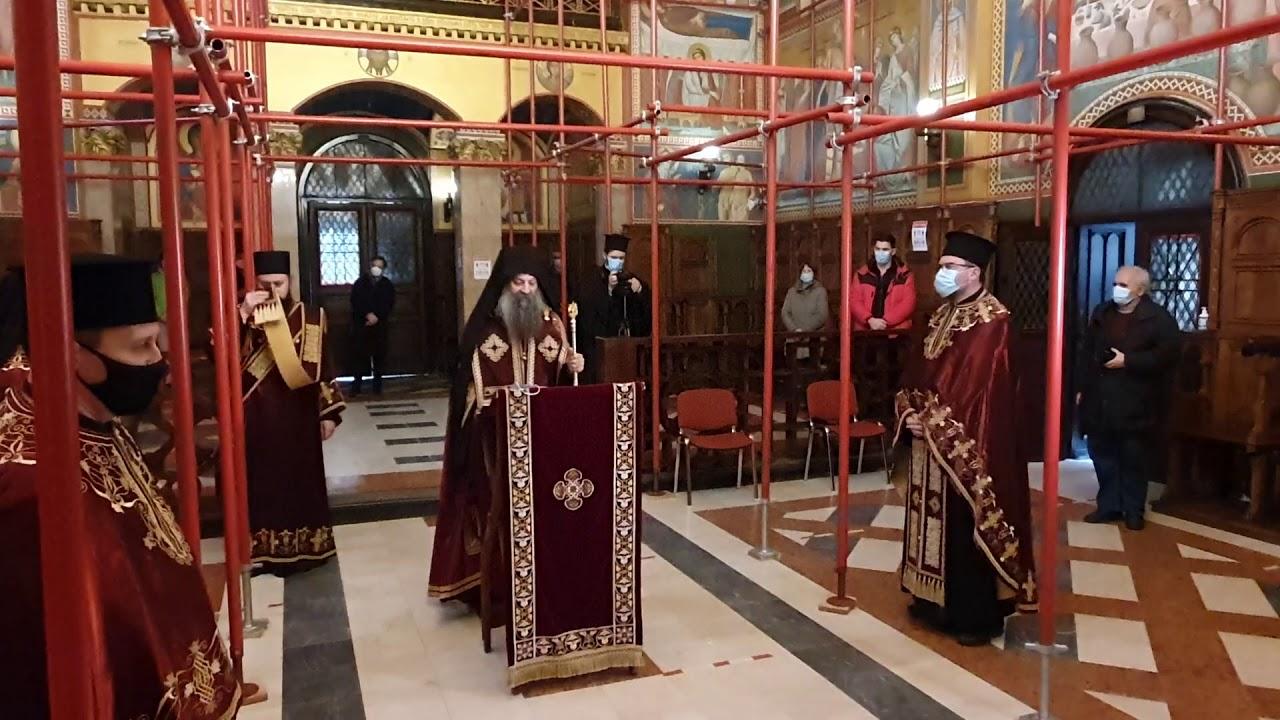 Помен Патријарху Иринеју у Саборном храму у Загребу.