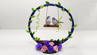 Diy Home decoration from waste Paper / News Paper Craft Ideas / Bird House Craft Ideas