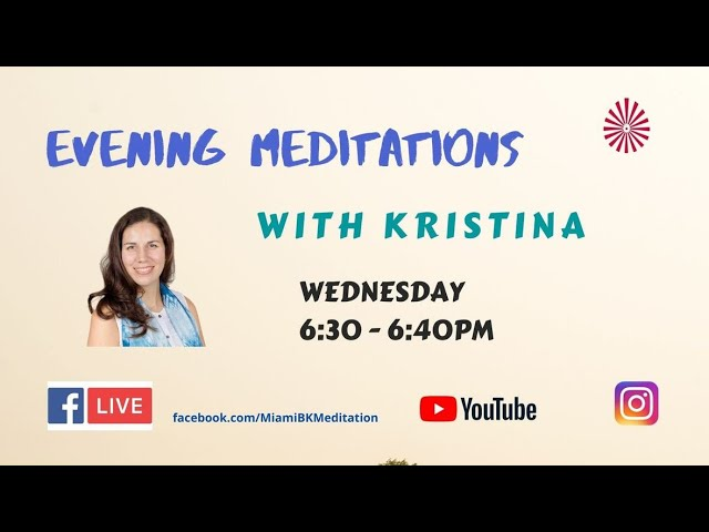 Sowing the seeds of Love and Peace Meditation : With Kristina