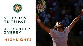 Stefanos Tsitsipas vs Alexander Zverev - Semifinal Highlights