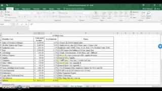 Business Plan Startup Budget (Part 2)