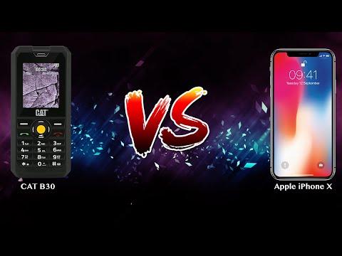 CAT B30 vs Apple iPhone X - Phone battle