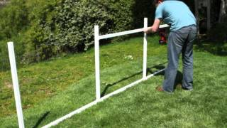 Snapfence™ 4' Double Rail Lattice Support Fence