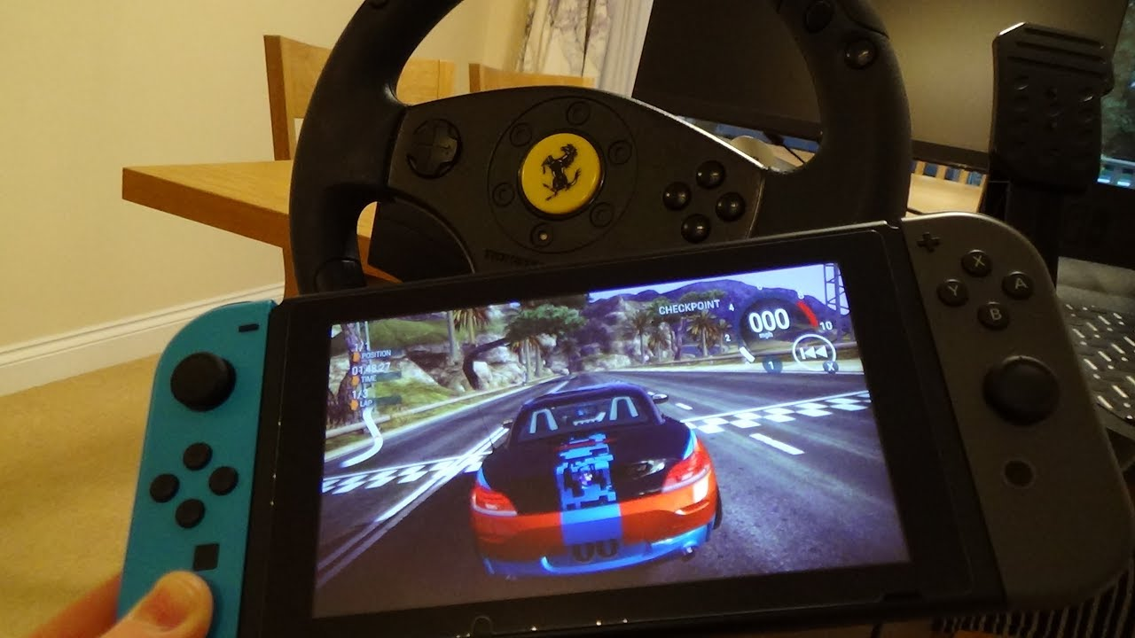 Steering Wheel for Nintendo Switch Racing Games (Quick Version)