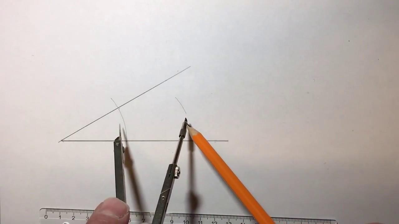 Konstruksjon - Hvordan halvere en vinkel