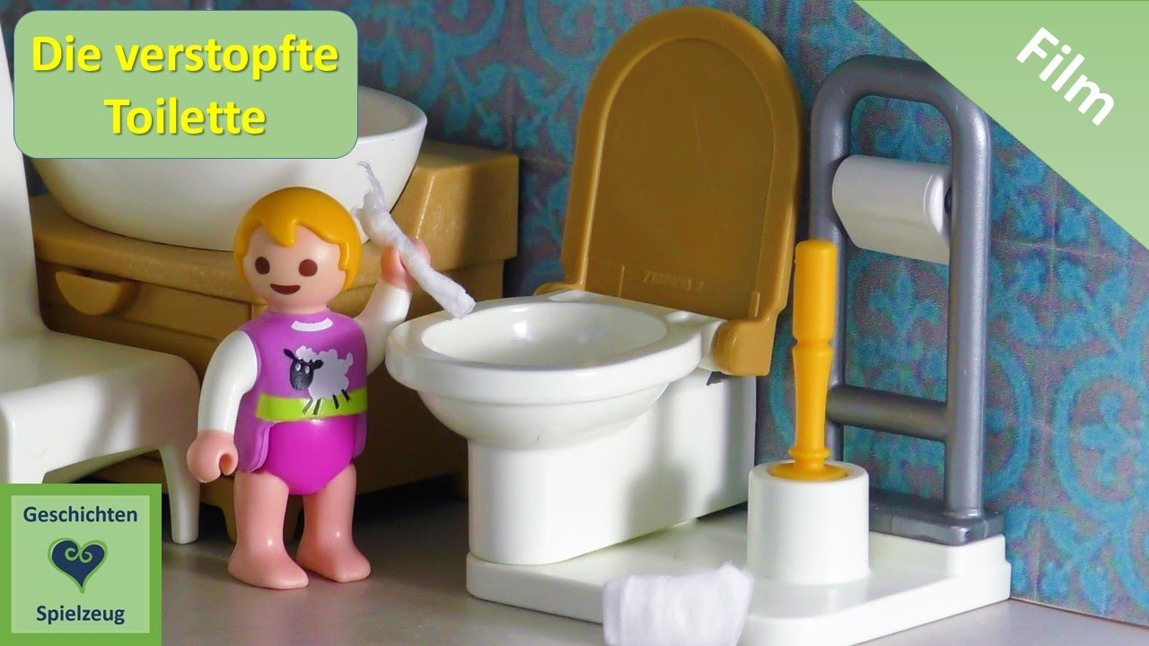 playmobil film deutsch die verstopfte toilette playmobil geschichten mit familie miller youtube. Black Bedroom Furniture Sets. Home Design Ideas