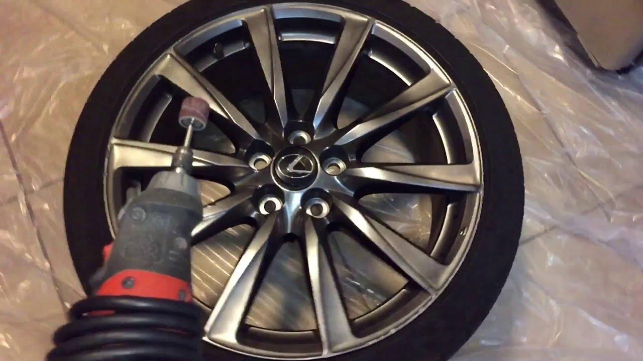 Wheel repair auto repair hd review damaged rim wheel for Diy rim painting
