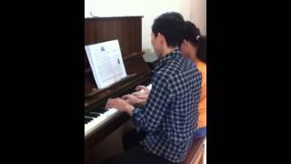 [Học piano] Thầy trò song tấu - tại Piano Fun Hà Nội