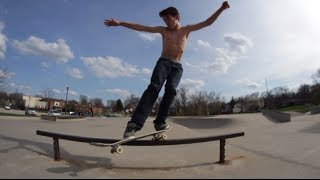 This Is Natural Skateboarding Talent!