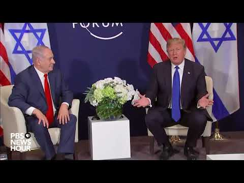 WATCH: President Trump, Israeli Prime Minister Netanyahu meet in Davos