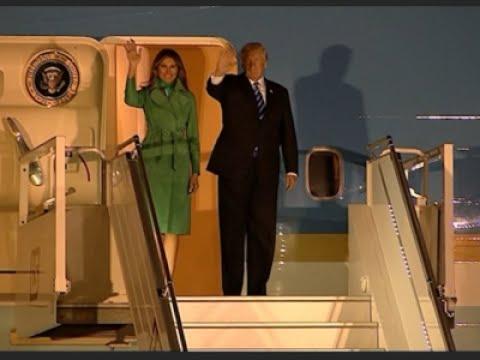 Raw: Trump Arrives in Poland Ahead of G20 Summit