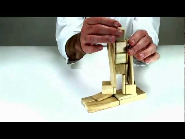 Toy Blocks from Tegu - Learn How to Build a Snowboard