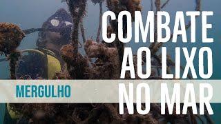 Dia mundial de limpeza com mergulho contra o lixo no mar nas Ilhas Cagarras, no Rio de Janeiro
