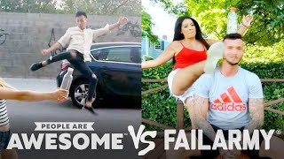 Bottlecap Kick Challenge Wins Vs. Fails & More! | PAA Vs. FailArmy