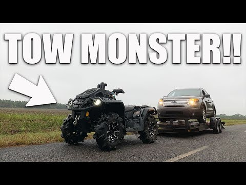 CANAM OUTLANDER 1000XMR TOWS LIKE A BOSS!! MUST SEE!!
