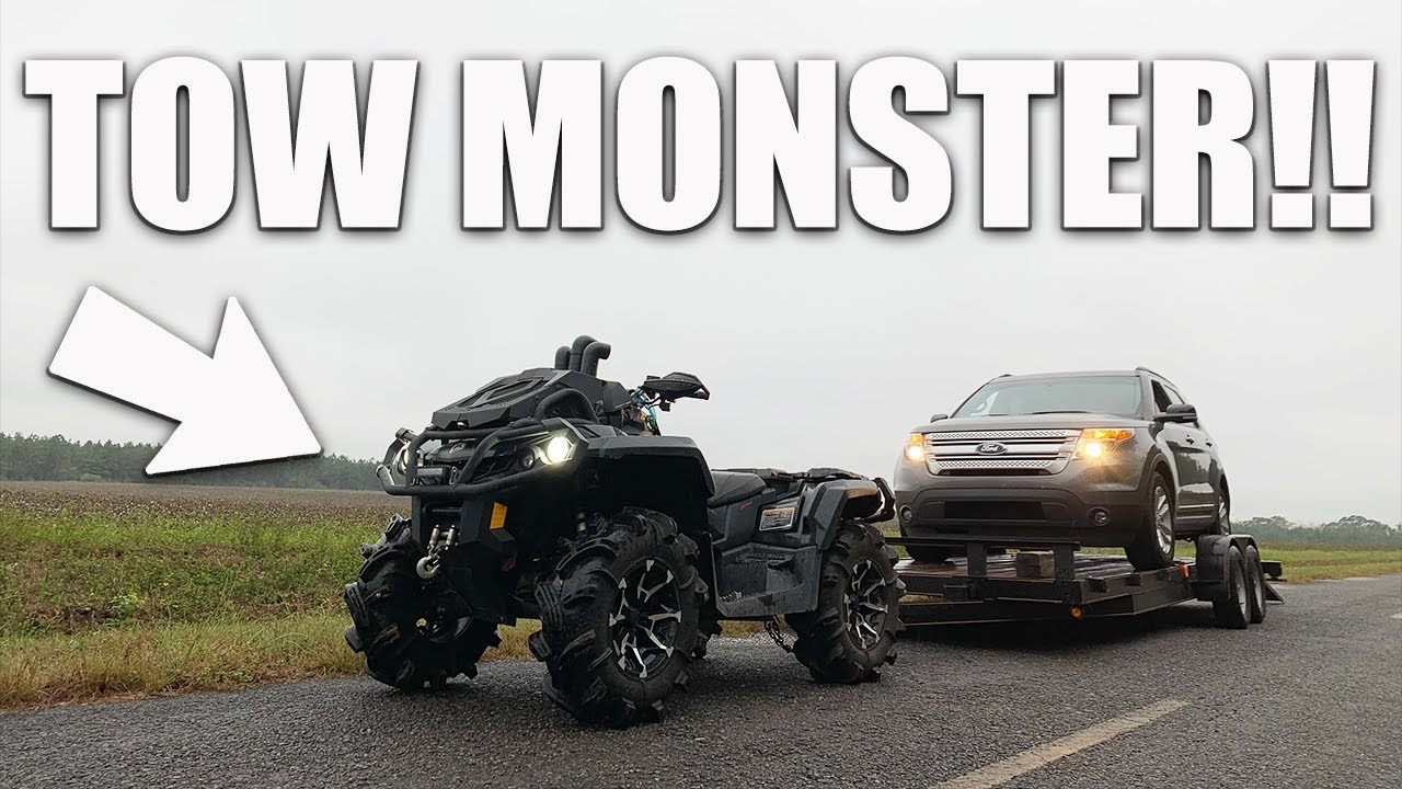 Can It Pull It Canam Outlander 1000xmr Hooks Up Big Trailer