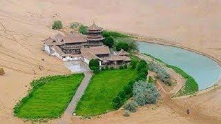 Amazing Crescent Lake in the Gobi Desert, China