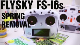 FlySky FS-i6S Transmitter Throttle Spring Removal