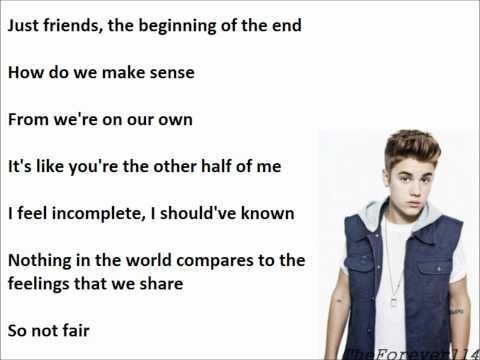 Justin Bieber & Carly Rae Jepsen - beautiful (lyrics)