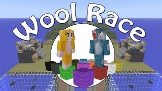 Minecraft Xbox - Wool Race - Part 1