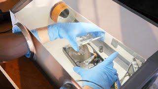 كيفية جعل الهواء النظيف الضميمة (على إصلاح الأقراص الصلبة الخ)