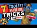 7 Coolest Beyblade Tricks on Youtube!  Epic Compilation of Funny Beyblade Burst Tricks & Fails!