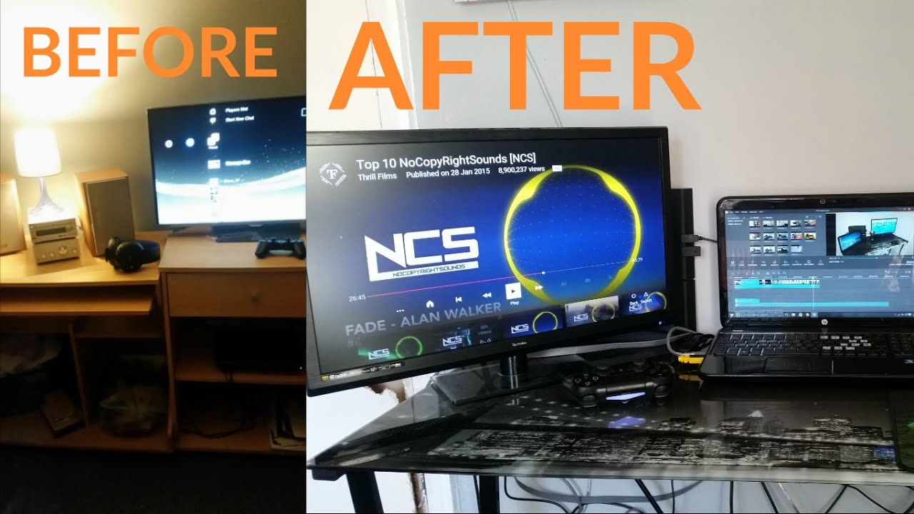 Bedroom gaming setup before and after youtube for Chambre gaming