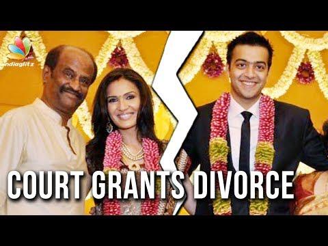Soundarya gets divorce from Ashwin | Hot Tamil Cinema News | Rajinikanth Daughter